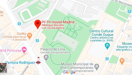 Como llegar a Pil Pil Hostel Madrid